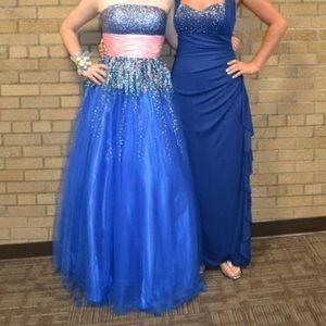 *FLASH SALE* Dark blue gown with pink/blue detail